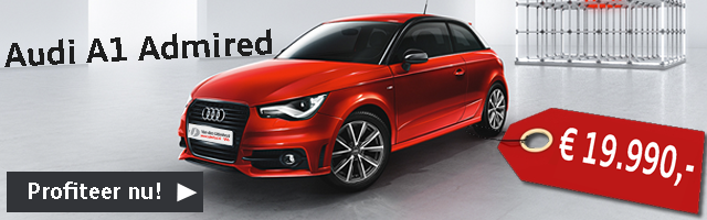 Audi A1 admired actie via audi van udenhout